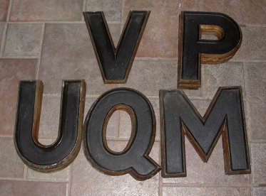 cast aluminum 12 marquee letters for sale