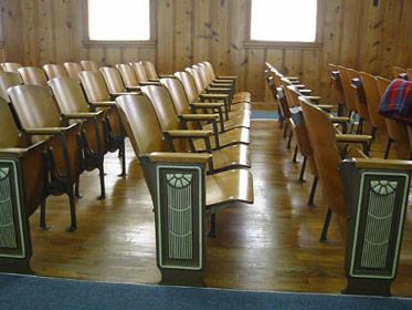 R 228 Beautiful WoodIron Theater Seats For Sale