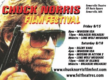 Chuck Norris Film Festival in Somerville